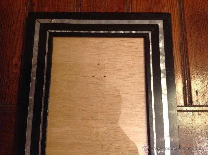 Antigüedades: marco de fotos con nacar - Foto 3 - 49070807
