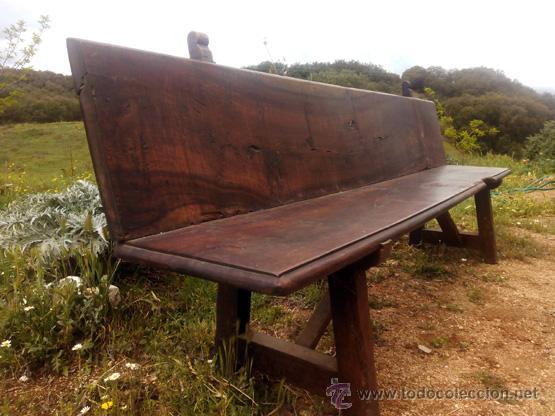 antiguo escaño, banco de nogal, final del s.xix - Comprar Sillones ...