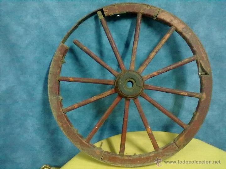 Antigüedades: RUEDA RADIOS CARRO CARRETA - Foto 2 - 49082221