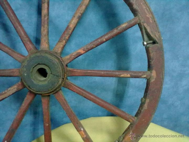 Antigüedades: RUEDA RADIOS CARRO CARRETA - Foto 4 - 49082221