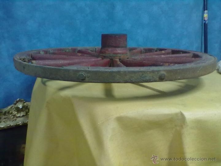 Antigüedades: RUEDA RADIOS CARRO CARRETA - Foto 5 - 49082221