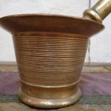 Antigüedades: ALMIREZ FARMACIA BRONCE S XIX. Lote 49084372