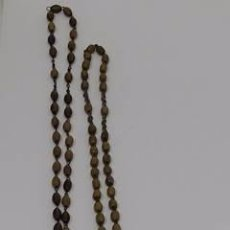 Antigüedades: ANTIGUO ROSARIO -LOTE DE TRES ROSARIOS DIFERENTES MATERIALES. Lote 49086544