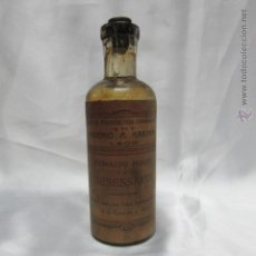 Antigüedades: FRASCO CRISTAL EXTRACTO FLUIDO DESESSARTZ PRODUCTOS FARMACEÚTICOS ARSENIO RABANAL LEÓN. Lote 49099224