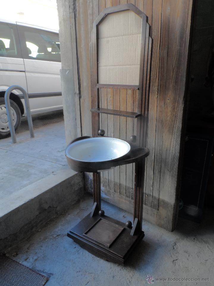 Mueble antiguo palanganero a os 40 comprar muebles - Mueble antiguo segunda mano ...