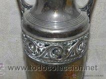 antigedades nfora jarrn jarra en metal plateado foto