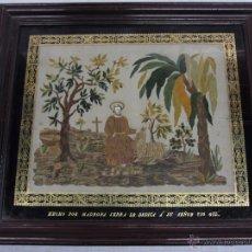 Antigüedades: BORDADO DEL SIGLO XIX DE SAN GIL ABAD. Lote 49106862