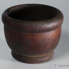 Antigüedades: ANTIGUO MORTERO DE FARMACIA DE MADERA. Lote 49109292