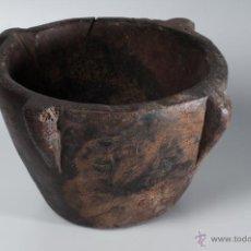 Antigüedades: ANTIGUO MORTERO DE MADERA. Lote 49109505