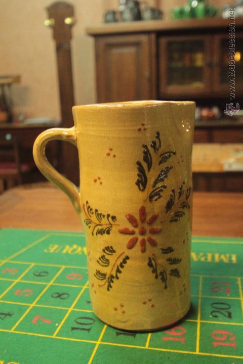 ANTIGUA JARRA DE CERÁMICA DE MANISES, CON RELIEVE -REF3500- (Antigüedades - Porcelanas y Cerámicas - Manises)