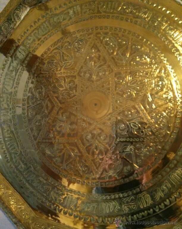 Antigüedades: Plato decoración o bandeja antigua. Recogida local - Foto 2 - 49119838