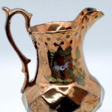 Antigüedades: JARRA PICO BRISTOL REFLEJO METALICO S XIX DECORACIÓN FLORES GEOMÉTRICA. Lote 49122185