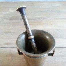 Antigüedades: ANTIGUO ALMIREZ DE FARMACIA EN METAL. Lote 49132717