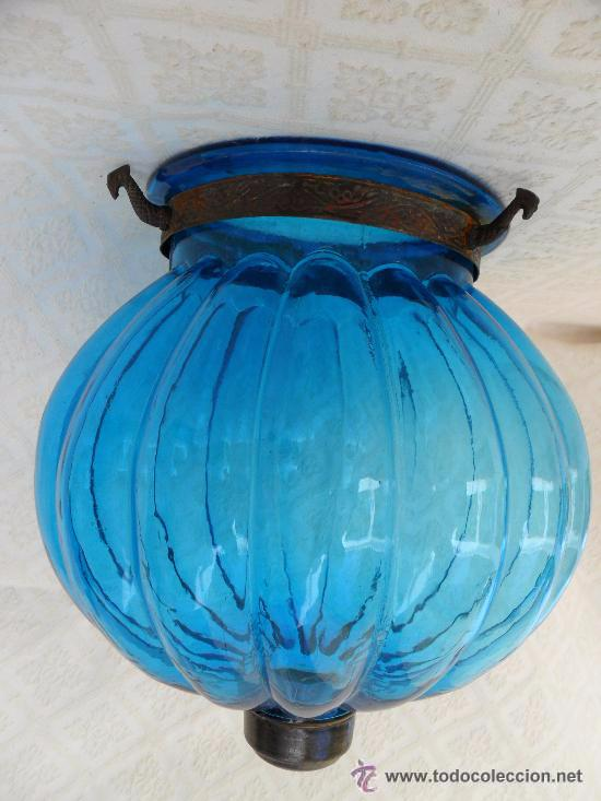 ANTIGUA LAMPARA / TULIPA MODERNISTA (Antigüedades - Iluminación - Lámparas Antiguas)