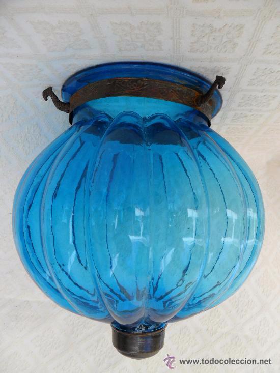 Antigüedades: Antigua lampara / tulipa modernista - Foto 2 - 49135788