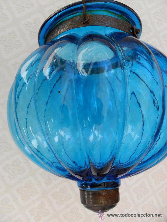 Antigüedades: Antigua lampara / tulipa modernista - Foto 3 - 49135788