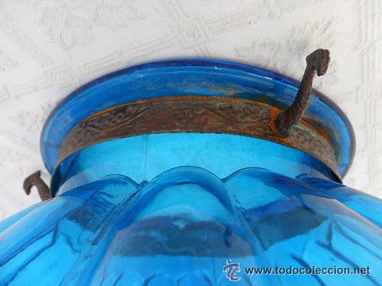 Antigüedades: Antigua lampara / tulipa modernista - Foto 4 - 49135788