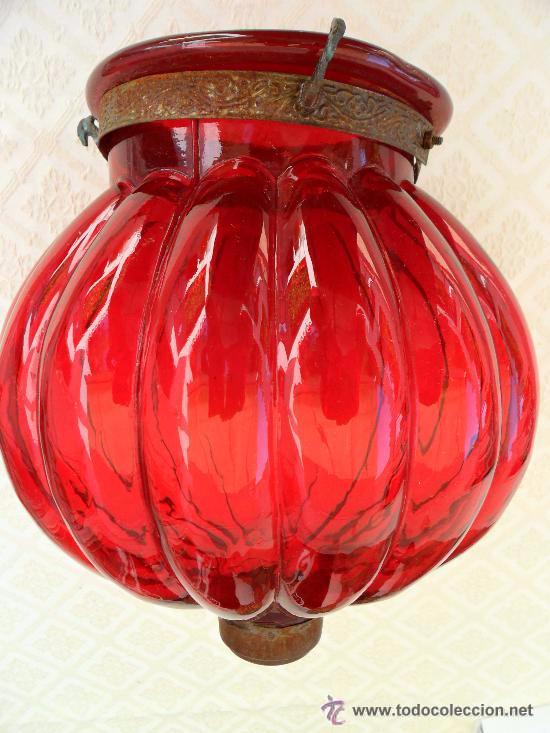 Antigüedades: Antigua lampara / tulipa modernista - Foto 3 - 49135858