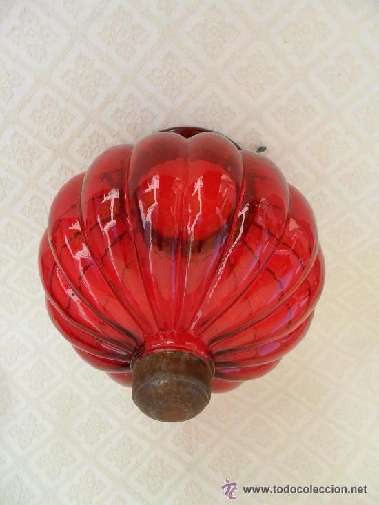 Antigüedades: Antigua lampara / tulipa modernista - Foto 6 - 49135858