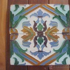Antigüedades: PAREJA DE AZULEJOS RAMOS REJANO. Lote 49136267