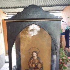 Antigüedades: ANTIGUA HORNACINA CON IMAGEN RELIGIOSA.. Lote 49141960