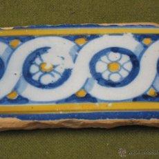 Antigüedades: AZULEJO ANTIGUO DE TALAVERA O TOLEDO. TECNICA PINTADA, LISA O PLANA. SIGLO XVI-XVII.. Lote 49146390