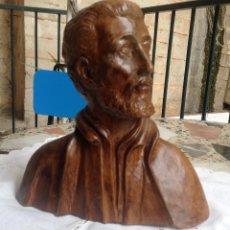 Antigüedades: FIGURA BUSTO EN TERRACOTA PADRE CRISTÓBAL ( CÓRDOBA ESPAÑA ). Lote 49148335