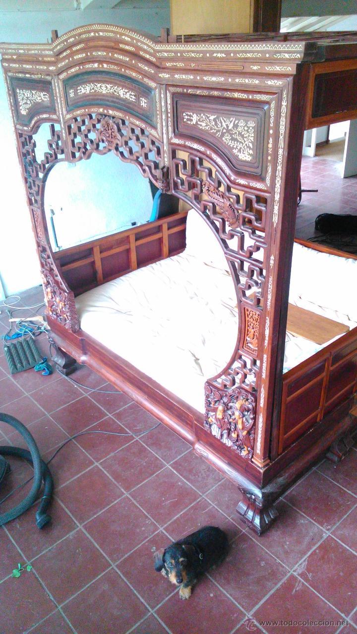 Antigüedades: Espectacular cama china procedente de un palacio - Foto 2 - 49151946
