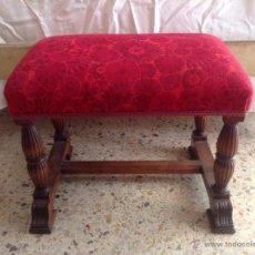 Antigüedades: ANTIGÜA BANQUETA PIE DE CAMA. Lote 49155327