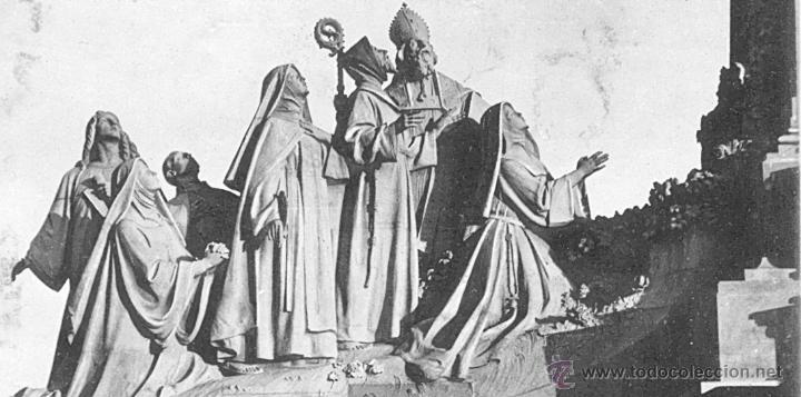Antigüedades: ANTIGUA PLANCHA RELIGIOSA DE COBRE/LATÓN REPUJADO MONUMENTO SAGRADO CORAZÓN DE JESÚS REINO DE ESPAÑA - Foto 21 - 49162772