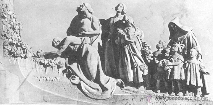 Antigüedades: ANTIGUA PLANCHA RELIGIOSA DE COBRE/LATÓN REPUJADO MONUMENTO SAGRADO CORAZÓN DE JESÚS REINO DE ESPAÑA - Foto 22 - 49162772