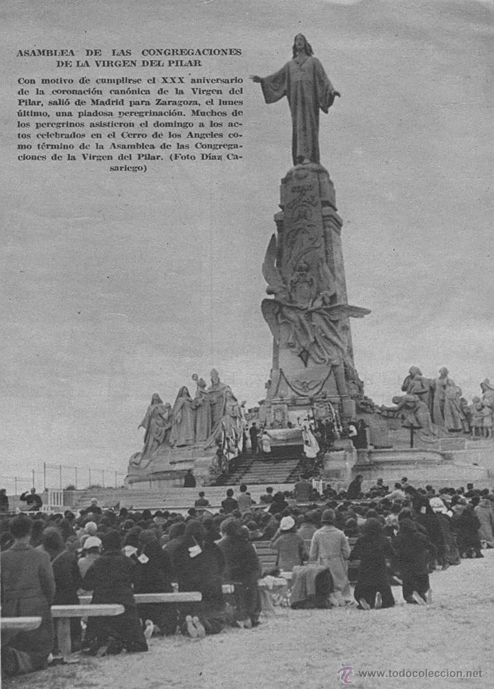 Antigüedades: ANTIGUA PLANCHA RELIGIOSA DE COBRE/LATÓN REPUJADO MONUMENTO SAGRADO CORAZÓN DE JESÚS REINO DE ESPAÑA - Foto 23 - 49162772