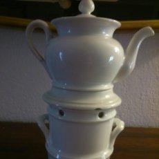 Antigüedades: * TETERA-TISANERA CON HORNILLO. ESCALFETA. Lote 49165806
