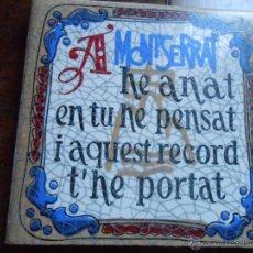 Antigüedades: MONTSERRAT 7,5 X 7,5 CMS.. Lote 49175988