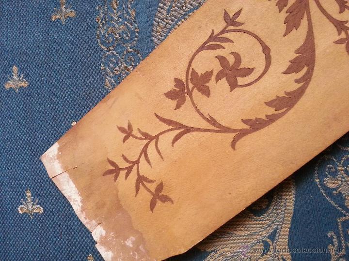 Antigüedades: precioso frontal taracea madera noble y caoba , incrustaciones taracea ideal para acabado de mueble - Foto 3 - 257319505