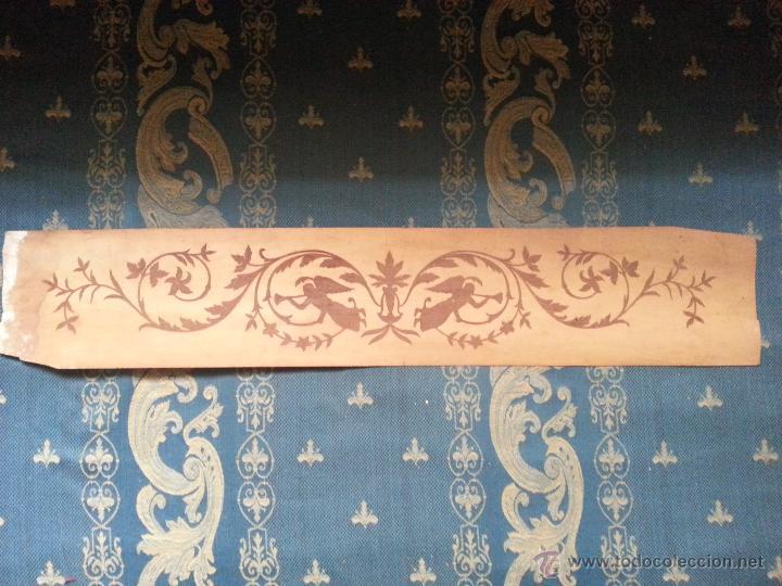 Antigüedades: precioso frontal taracea madera noble y caoba , incrustaciones taracea ideal para acabado de mueble - Foto 4 - 257319505
