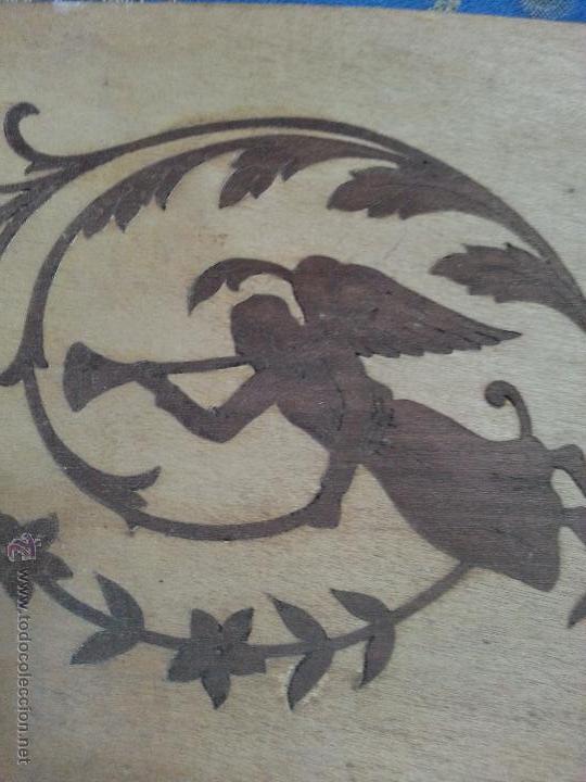 Antigüedades: precioso frontal taracea madera noble y caoba , incrustaciones taracea ideal para acabado de mueble - Foto 5 - 257319505
