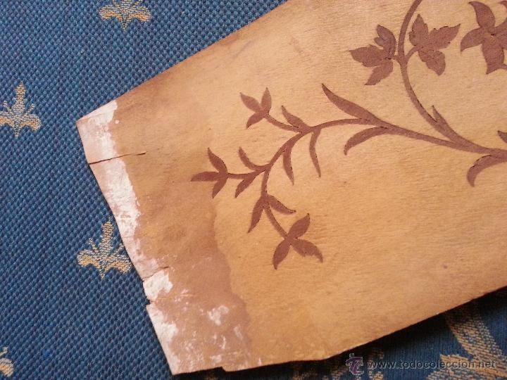 Antigüedades: precioso frontal taracea madera noble y caoba , incrustaciones taracea ideal para acabado de mueble - Foto 7 - 257319505