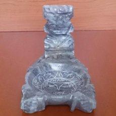 Antigüedades: CENICERO ANTIGUO EN CUARZO LECHOSO CON IMAGEN DEL DIOS WIRACOCHA TALLADO A MANO .. Lote 49186235