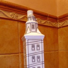 Antigüedades: BOTELLA TORRE DE HERCULES CERAMICAS O CASTRO . Lote 49186968