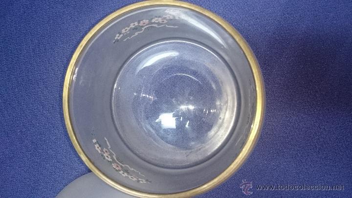 Antigüedades: MAGNIFICA BOMBONERA EN CRISTAL DE ORIGEN INGLES PINTADA A MANO - Foto 7 - 49190974
