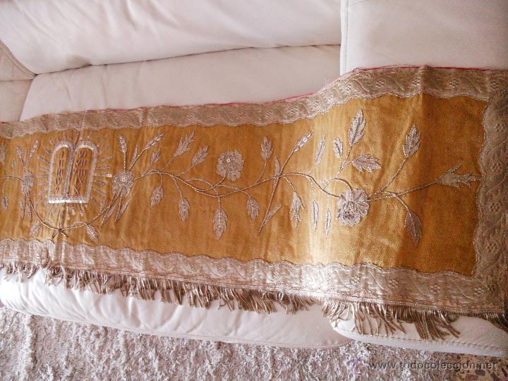 FRONTAL DE ALTAR BORDADO EN PLATA (Antigüedades - Religiosas - Ornamentos Antiguos)