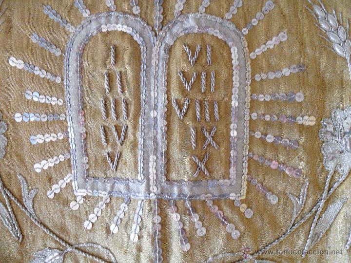Antigüedades: FRONTAL DE ALTAR BORDADO EN PLATA - Foto 3 - 49193816