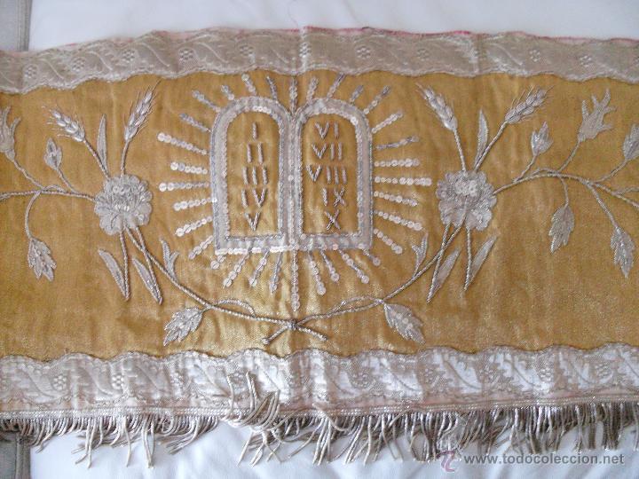 Antigüedades: FRONTAL DE ALTAR BORDADO EN PLATA - Foto 7 - 49193816