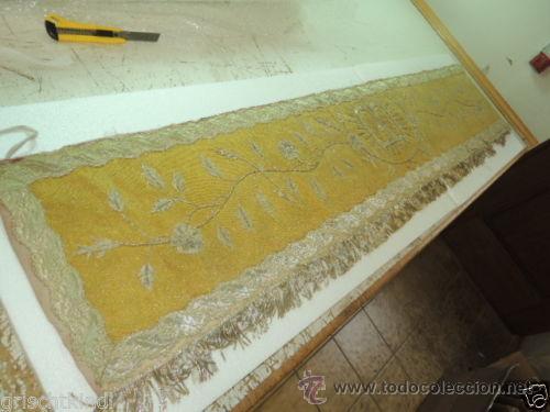Antigüedades: FRONTAL DE ALTAR BORDADO EN PLATA - Foto 10 - 49193816