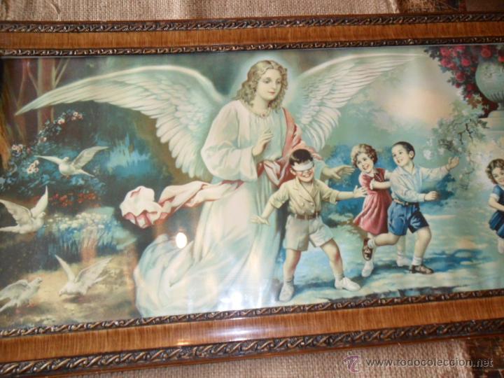 Cuadro con marco de madera lacado y litografia comprar for Marco cuadro antiguo