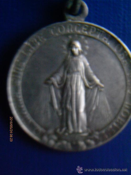 MEDALLA DE LOS SAGRADOS CORAZONES DE MARIA.PLATA (Antigüedades - Religiosas - Medallas Antiguas)