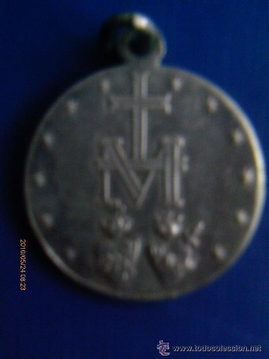 Antigüedades: medalla de los sagrados corazones de maria.PLATA - Foto 2 - 49198739