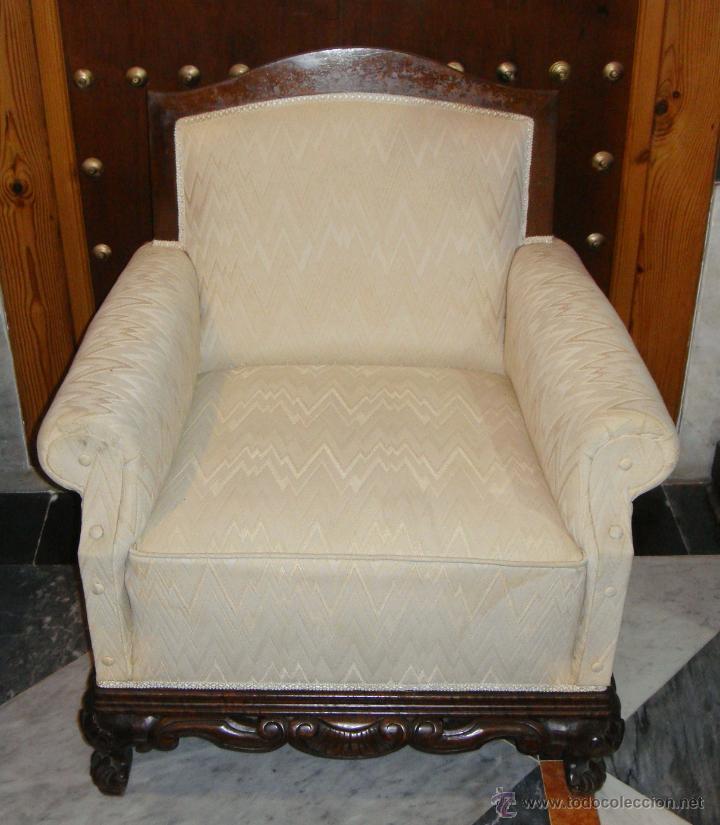 Bonita y elegante descalzadora sill n butaca comprar for Sillones antiguos tapizados