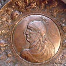 Antigüedades: ANTIGUO PLATO LIMOSNERO DE COBRE. Lote 49200327
